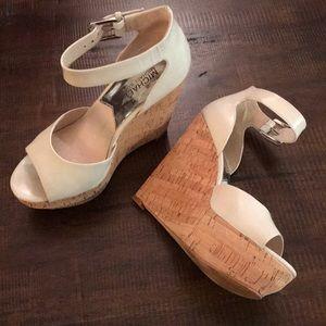 VGUC~ Michael Kors Cork Platform Wedge Sandals